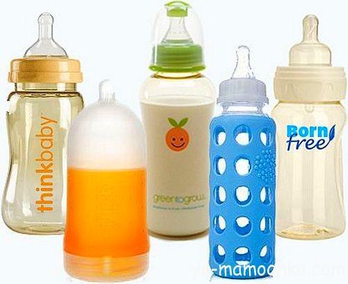 Виды бутылочек для кормления
